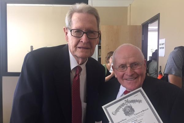 'Love Is Everywhere': Couple In Their 80s In Dallas County's First Same-Sex Ceremony