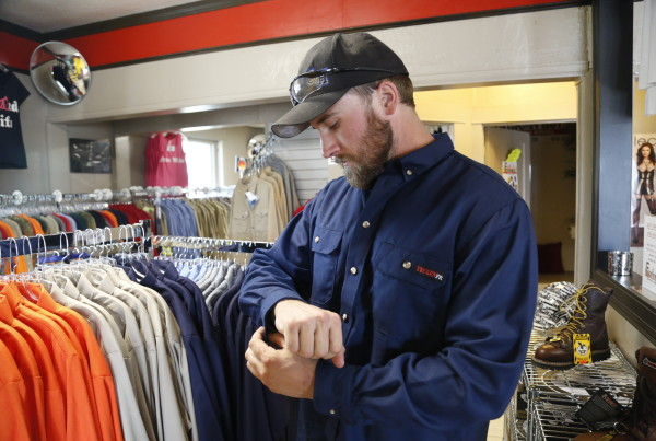 In Oilfield Towns, A Boom In Flame Resistant Clothing