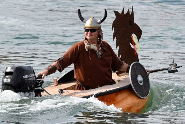 How One Texan Got Hooked On Pumpkin-Boat Racing
