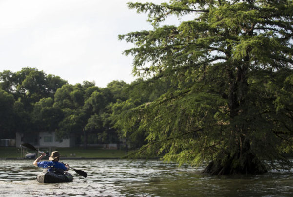 In A City Of Car-Bound Commuters, This Austin Man Uses A Kayak To Get To Work