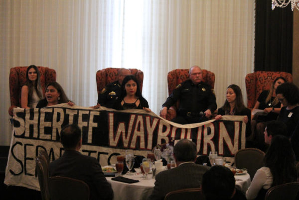 Immigrant Rights Protesters Interrupt Panel On Tarrant County's Partnership With ICE