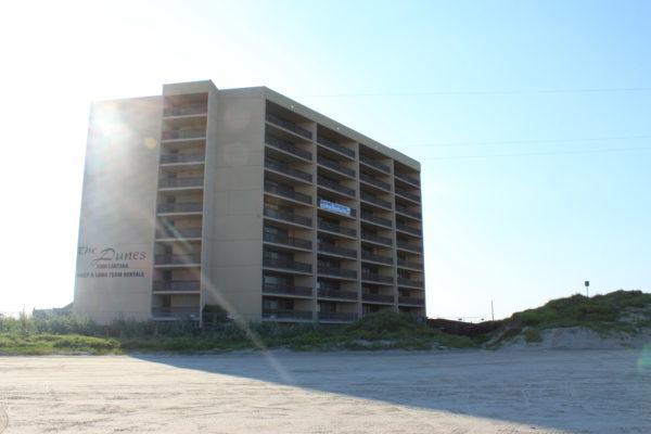 Another condominium located on the beach in Port Aransas remains unopened.
