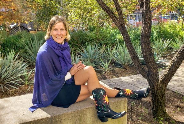 Picture Book Author is Never Fully Dressed Without Her Smile Boots