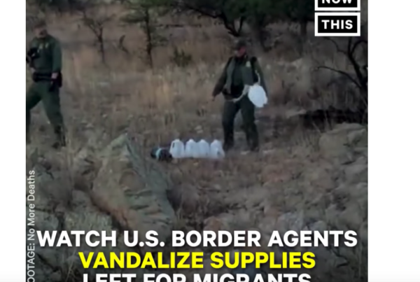 Did Border Patrol Agents Destroy Supplies Left For Migrants?