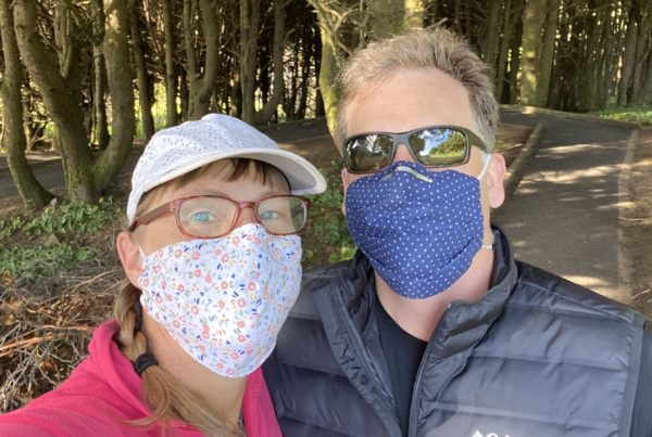 My Mask: This Mom Of Seven Plans To Someday Make A Quilt With Her Mask-Making Scraps