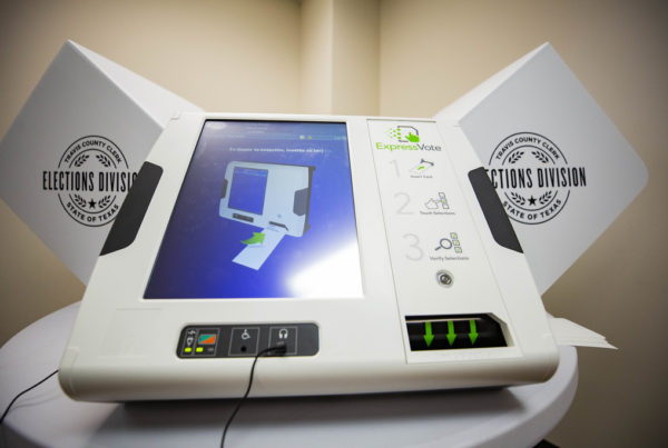 Harris County Prepares To Pick New Paper-Based Voting Machines